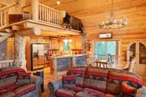 large secluded Galtinburg cabin rental