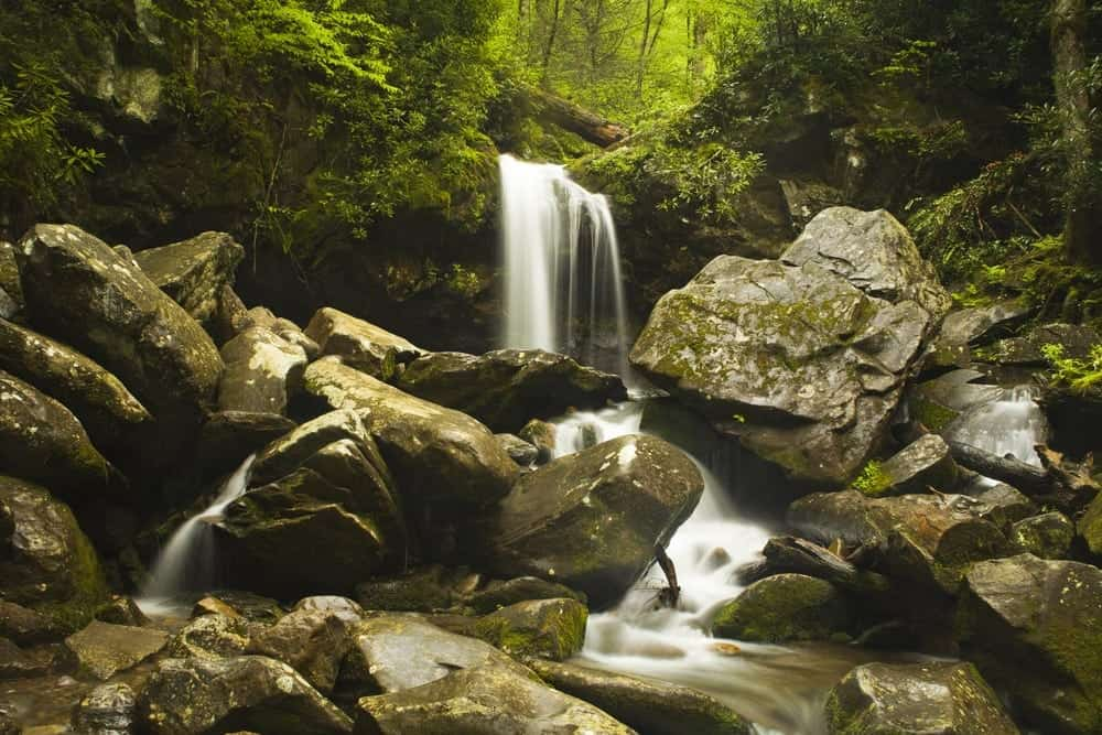 Grotto Falls in the Great Smoky Mountains National Park.