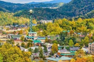 Photo of the skyline taken near our Gatlinburg cabin rentals close to downtown.