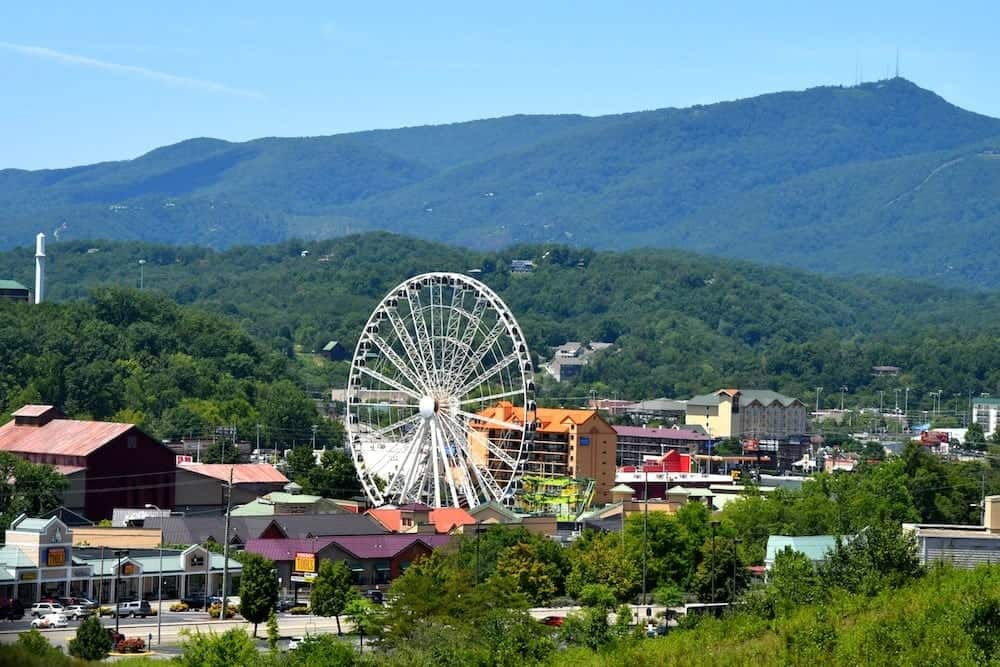Beautiful summer day in Pigeon Forge Tn