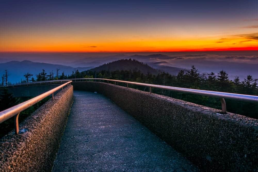 clingmans dome for smoky mountain sunsets and sunrises