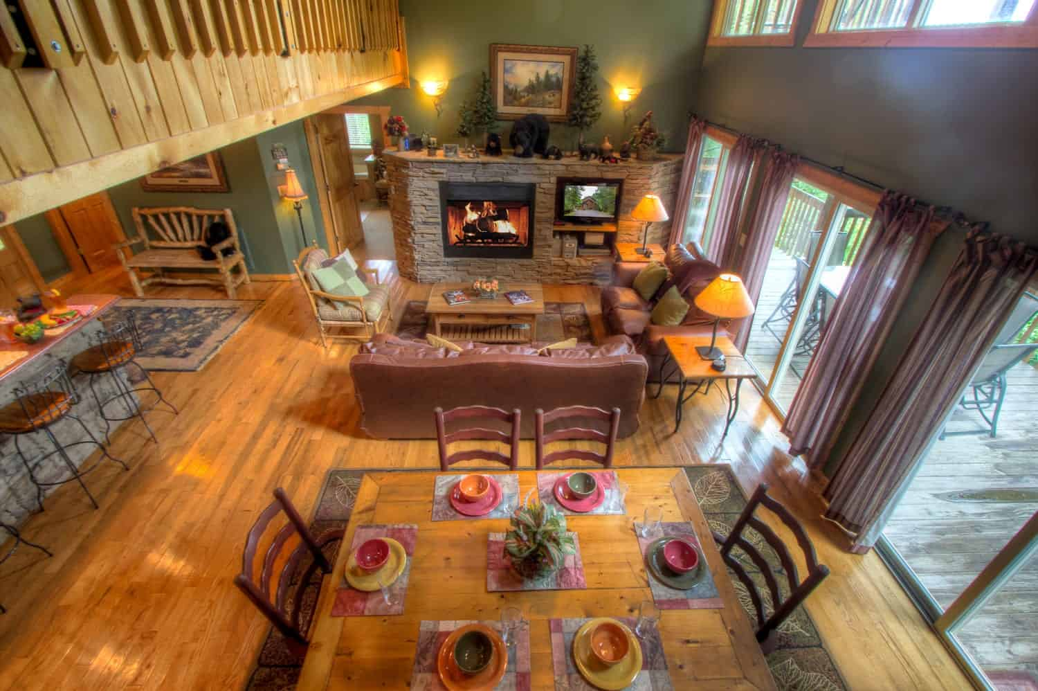 Inside of a Gatlinburg cabin rental